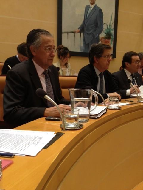 Miembros del Grupo Popular en el salón de plenos del Ayuntamiento.