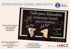 2013-10-09 Cartel Escuela a Escena