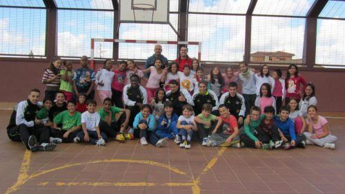 Primer clinic de Segoviafutsal en el colegio de Santa Eulalia / SEGOVIAFUTSAL