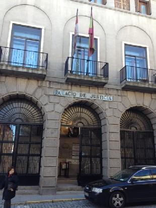 Fachada de la Audiencia Provincial de Segovia, lugar donde en próximas fechas deberán declarar los miembros del Consejo de Administración y de la Comisión de Retribuciones de Caja Segovia