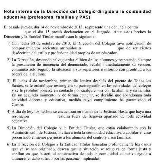 CARTA COLEGIO CLARET