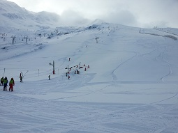 Pistas de la estación de esquí La Pinilla la temporada pasada. / La Pinilla
