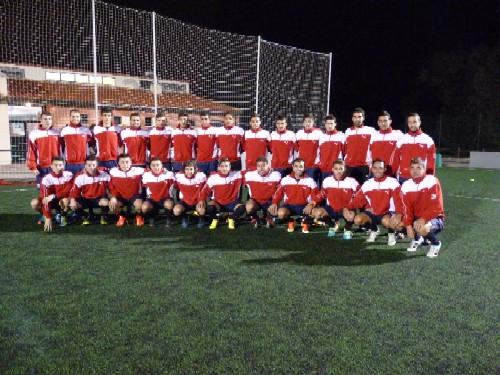 Primer entrenamiento de la selección de Castilla y León de fútbol
