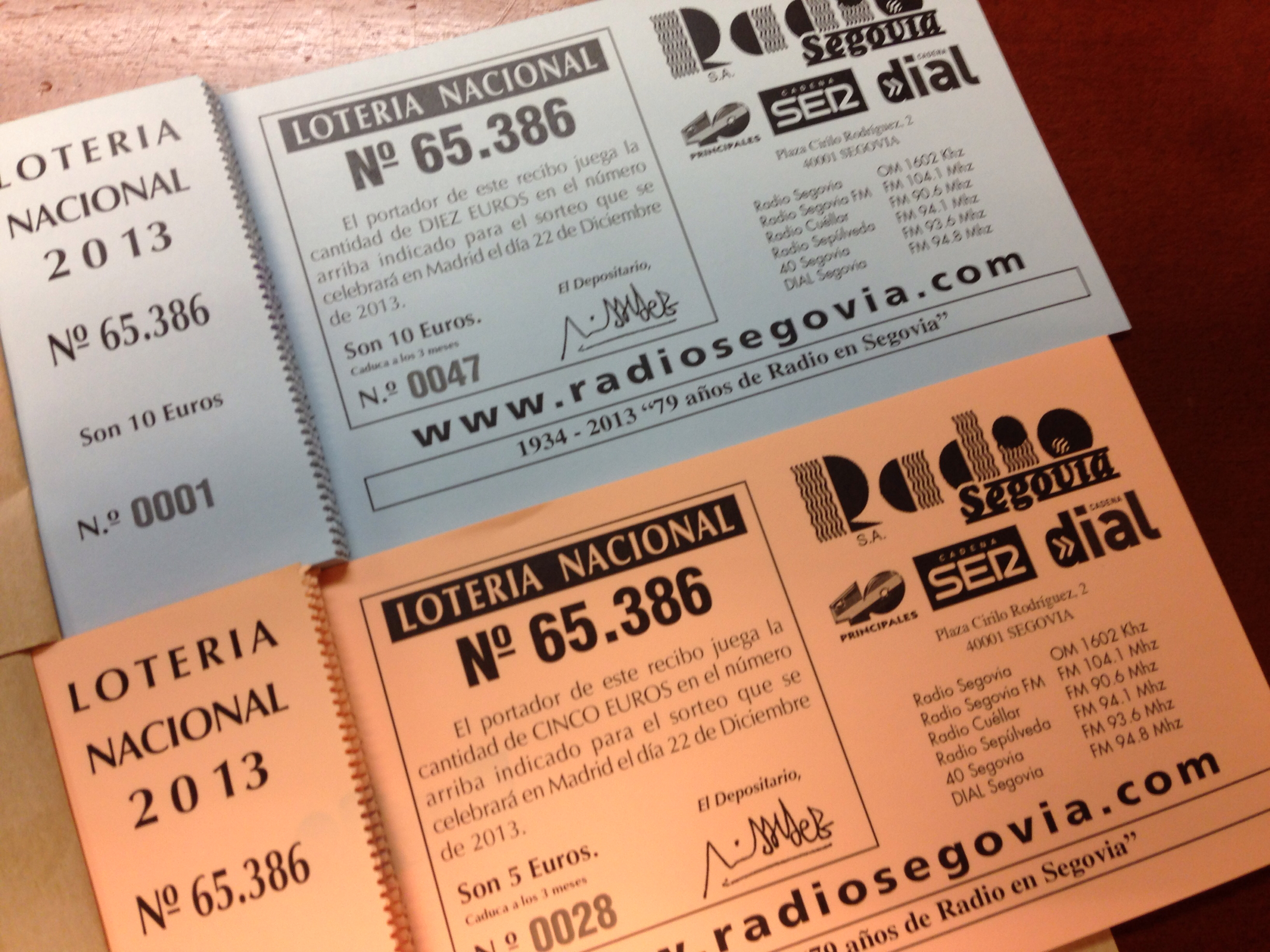 loteria radio segovia