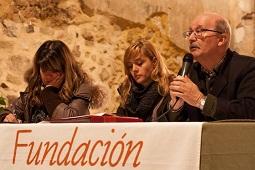 Javier Acebo durante la reunión del Patronato / Fundación Villa de Pedraza.