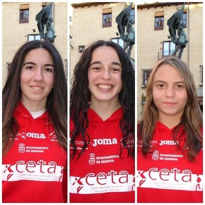 Carla, Marta y Natalia al Cpto. de España de marcha