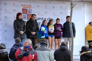 2014-02-11 Podio individual cadete femenino Águeda primera
