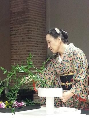 Demostración de Ikebana (2)