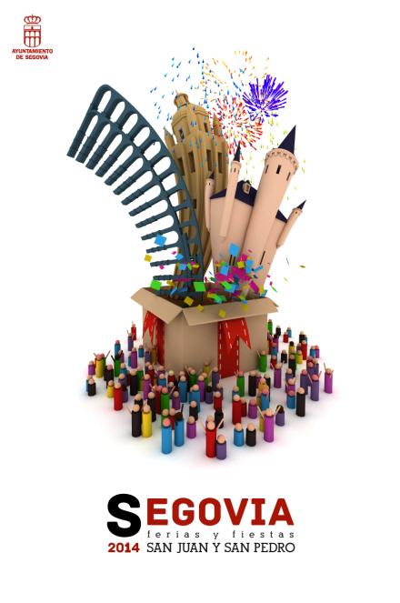 cartel ferias y fiestas segovia 2014