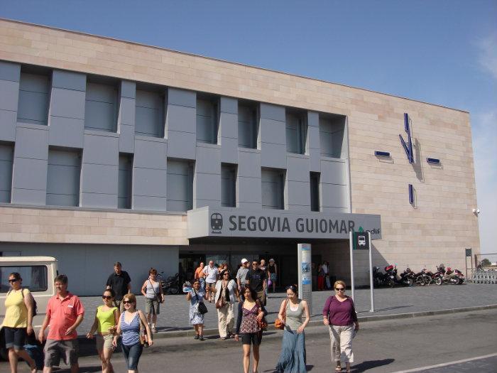 estacion ave Segovia Guiomar viajeros