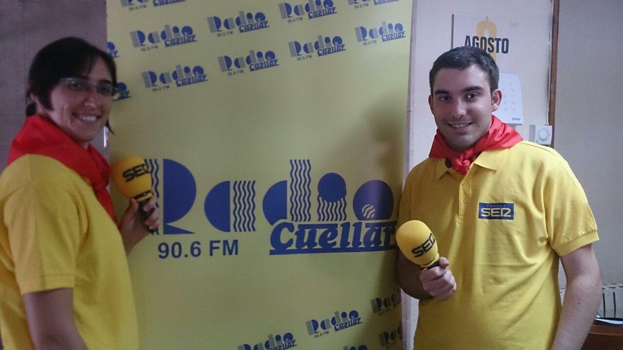 140828 equipo radio cuellar fiestas 2014 cristina sancho y jesús muñoz