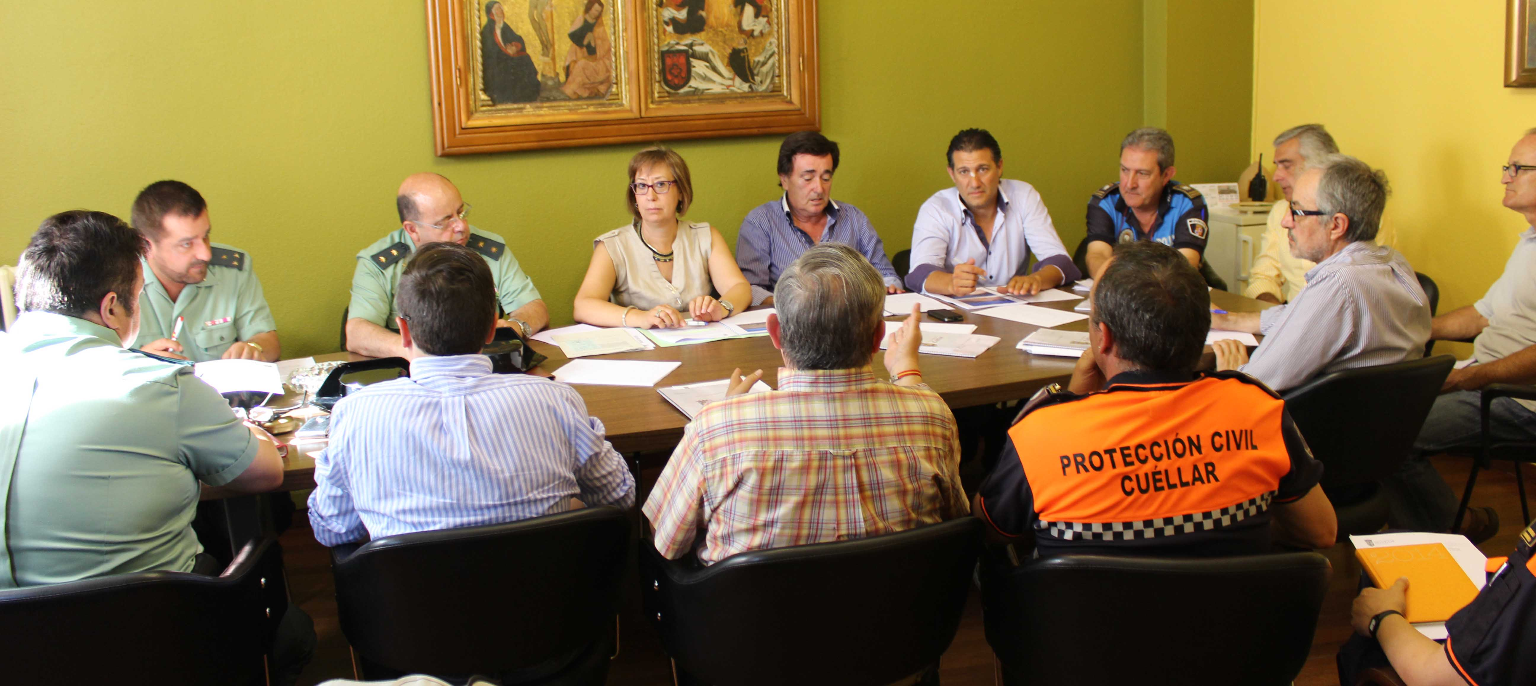 Un momento de la Junta de Seguridad celebrada en Cuéllar. /J.M.
