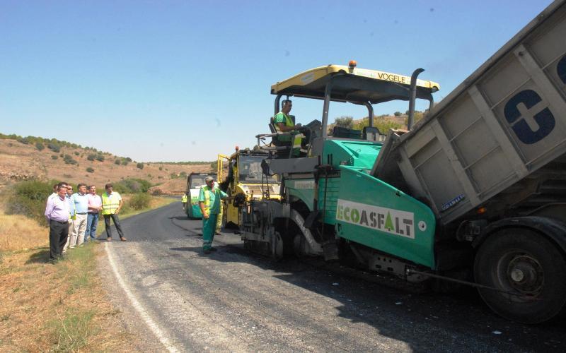 máquinas obras carretera