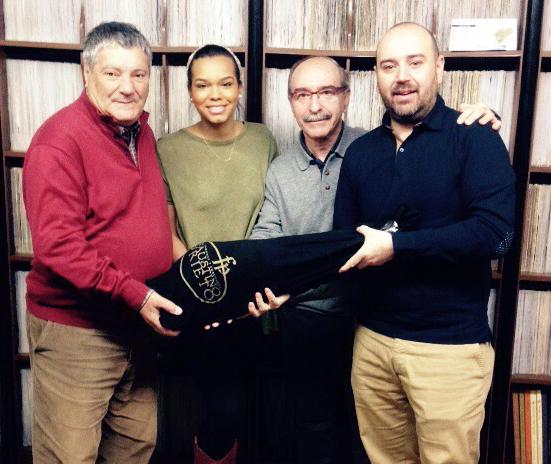 Lourdes Tapia ganadora del Jamón de Faustino Prieto
