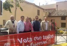 Luis Tudanca apoyó la candidatura del PSOE de Palazuelos de Eresma