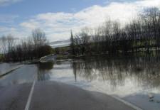 La Diputación pondrá fin a los problemas de inundaciones en la carretera de Hontanares