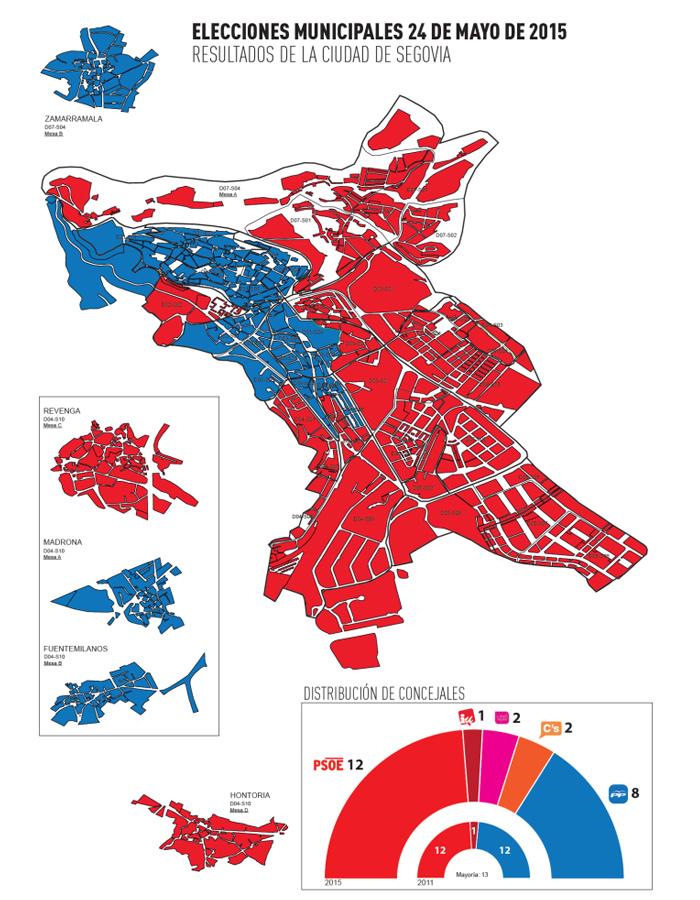 mapa resultado elecciones 2015 segovia por barrios