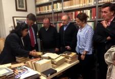 El Santuario de El Henar cataloga la mitad de los fondos de su biblioteca gracias a una subvención de la Diputación