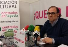 Cosme Aranguren, portavoz de UPYD Centrados en Segovia, en el Ayuntamiento.
