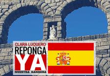 Nuevas Generaciones recoge firmas para que se vuelva a colocar la bandera de España en el Acueducto