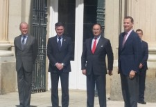 """El Rey Felipe VI destaca en el Real Sitio el papel de España como  """" nación comprometida con la Comunidad Internacional """""""