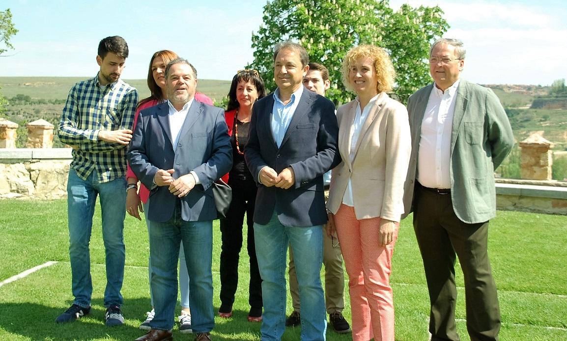 Los candidatos segovianos participan junto a Pedro Sánchez en un acto del PSOE en Madrid