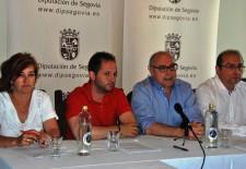 Gloria Hernando, Alberto Serna, Jesús Yubero y José Antonio Mateo, miembros del PSOE en la Diputación de Segovia