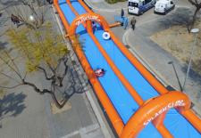 El tobogán más largo de Europa llega a Segovia en favor de la Asociación de Esclerosis Múltiple de Segovia