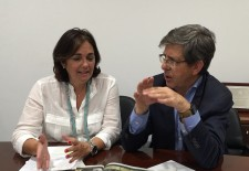 Los diputados del PP de Segovia Beatriz Escudero y Jesús Postigo