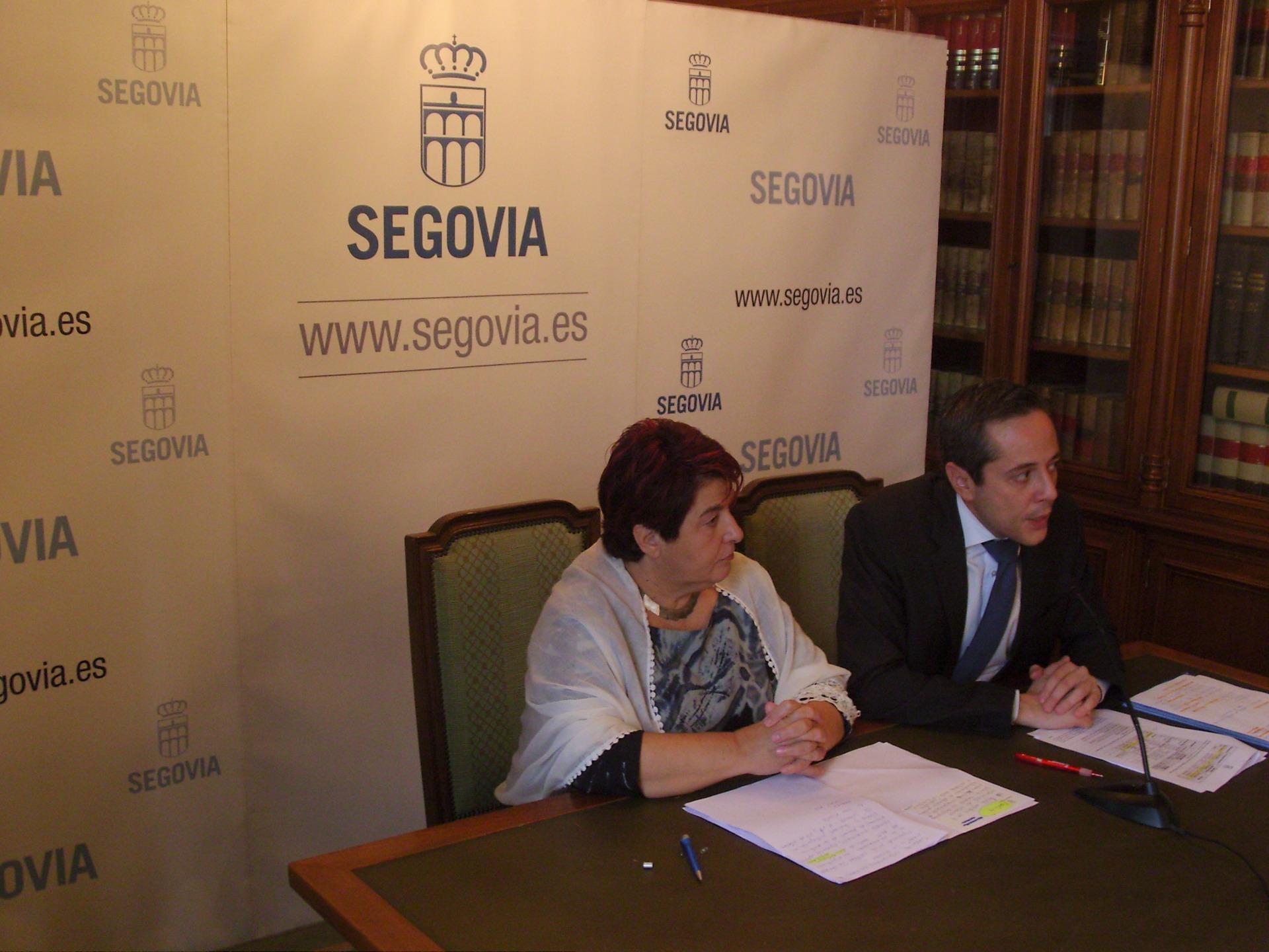 Clara Luquero, alcaldesa de Segovia, y José Bayón, concejal de Desarrollo Económico, Empleo e Innovación