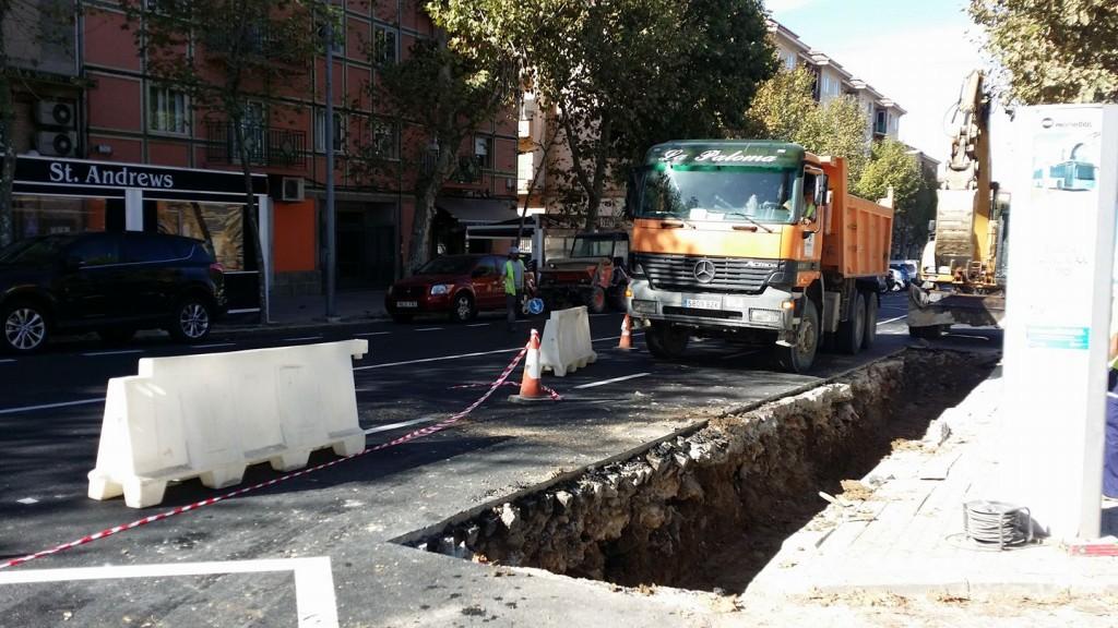 El próximo lunes comienzan las obras de reparación de los hundimientos de la Avenida de la Constitución