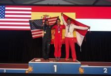 Carolina García se proclama campeona del Mundo de veteranos en los 200 metros lisos