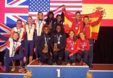 Carolina García consigue tres nuevas medallas de plata en el Mundial de veteranos