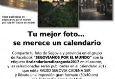RADIO SEGOVIA ilustrará su calendario 2017 con fotos de los seguidores del grupo de Facebook SEGOVIANOS POR EL MUNDO